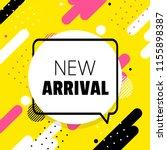 new arrival banner. shapes... | Shutterstock .eps vector #1155898387
