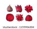 composition with whole and cut... | Shutterstock . vector #1155906304