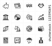 finance icons | Shutterstock .eps vector #115590691