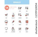 emails   modern line design...   Shutterstock .eps vector #1155910054