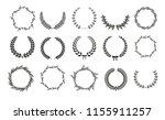 golden vector laurel wreaths on ...   Shutterstock .eps vector #1155911257