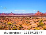 red rock canyon desert panorama ... | Shutterstock . vector #1155915547