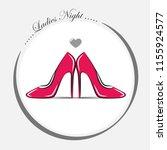 women's pink shoes high heel...   Shutterstock .eps vector #1155924577