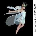 A Graceful Fairy With Wings An...