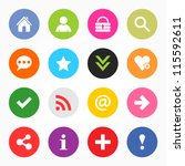 16 popular colors icon with... | Shutterstock .eps vector #115592611