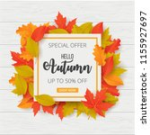 autumn sale background with... | Shutterstock .eps vector #1155927697