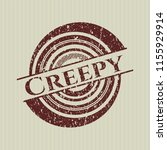 red creepy rubber seal | Shutterstock .eps vector #1155929914
