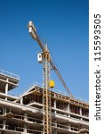 construction crane | Shutterstock . vector #115593505