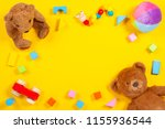 Baby kids toys frame with teddy ...