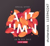 autumn sale background layout... | Shutterstock .eps vector #1155942247