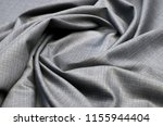 suit fabric  melange  gray wool. | Shutterstock . vector #1155944404