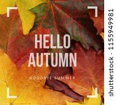 hello autumn  goodbye summer... | Shutterstock . vector #1155949981