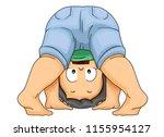illustration of a kid boy... | Shutterstock .eps vector #1155954127