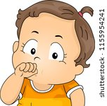 illustration of a kid girl... | Shutterstock .eps vector #1155954241