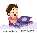 illustration of a kid boy... | Shutterstock .eps vector #1155954277