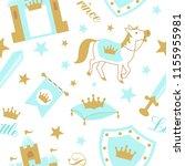 cute boyish seamless pattern... | Shutterstock .eps vector #1155955981