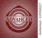 advanced vintage red emblem | Shutterstock .eps vector #1155963217