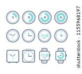 vector timers set. variety of... | Shutterstock .eps vector #1155968197