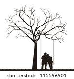 Black Couple Under Tree Over...