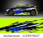 car decal design vector.... | Shutterstock .eps vector #1155974017