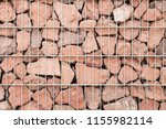 close up view of a gabion fence ... | Shutterstock . vector #1155982114