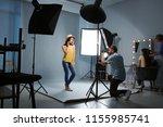 beautiful model posing for... | Shutterstock . vector #1155985741