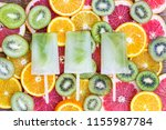 fruit ice. homemade fruit ice... | Shutterstock . vector #1155987784