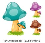 mushrooms vector illustrations | Shutterstock .eps vector #115599541