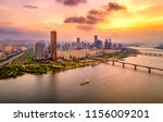 63 building and sunset at seoul ... | Shutterstock . vector #1156009201