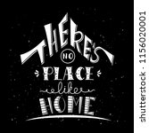 phrase there's no place like... | Shutterstock .eps vector #1156020001