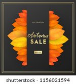 trendy and elegant autumn... | Shutterstock .eps vector #1156021594
