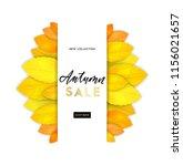 trendy and elegant autumn... | Shutterstock .eps vector #1156021657
