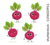 beet. cute cartoon vegetable... | Shutterstock .eps vector #1156025911