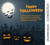 halloween poster. burning... | Shutterstock . vector #1156032514