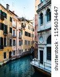 beautiful view of water street... | Shutterstock . vector #1156034647