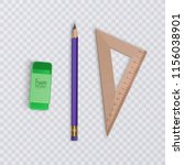 a realistic pencil with a... | Shutterstock .eps vector #1156038901