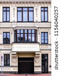 renovated facade of an old... | Shutterstock . vector #1156040257
