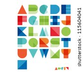 vector alphabet set | Shutterstock .eps vector #115604041
