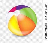 beach ball transparent... | Shutterstock . vector #1156041604