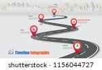 business road map timeline... | Shutterstock .eps vector #1156044727