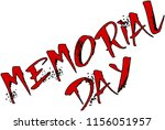 memorial day text sign... | Shutterstock .eps vector #1156051957