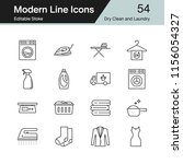 dry clean and laundry icons.... | Shutterstock .eps vector #1156054327