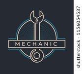 auto mechanic service. mechanic ... | Shutterstock .eps vector #1156054537