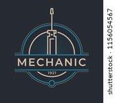 auto mechanic service. mechanic ... | Shutterstock .eps vector #1156054567