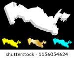 3d map of uzbekistan  republic...   Shutterstock .eps vector #1156054624
