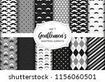 cute set of gentlemen's...   Shutterstock .eps vector #1156060501