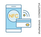 nfc technology color icon. near ...   Shutterstock .eps vector #1156063714