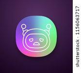 sad robot emoji app icon. upset ...