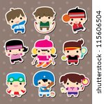 sport stickers | Shutterstock .eps vector #115606504