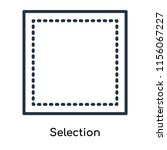 selection icon vector isolated... | Shutterstock .eps vector #1156067227
